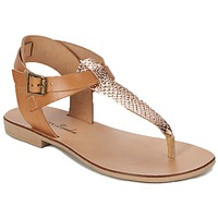 Shoes Women Sandals Betty London VITALLA Camel / Pink