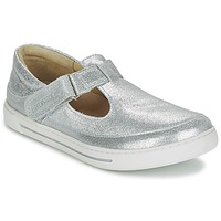 Shoes Girl Flat shoes Birkenstock ABILENE Silver