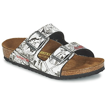Shoes Boy Mules Birkenstock ARIZONA Spiderman Black White
