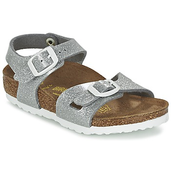 Shoes Children Sandals Birkenstock RIO Silver