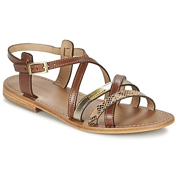 Shoes Women Sandals Les Tropéziennes par M Belarbi HAPAX TAN / Gold