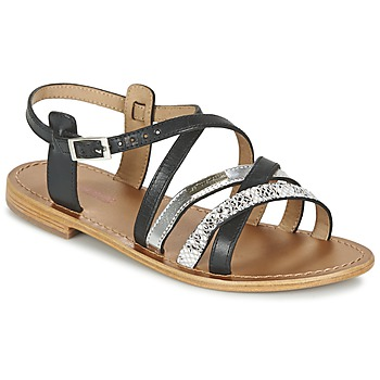 Shoes Women Sandals Les Tropéziennes par M Belarbi HAPAX Black / Silver