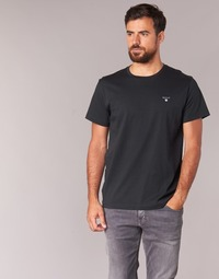 Clothing Men Short-sleeved t-shirts Gant THE ORIGINAL SOLID T-SHIRT Black