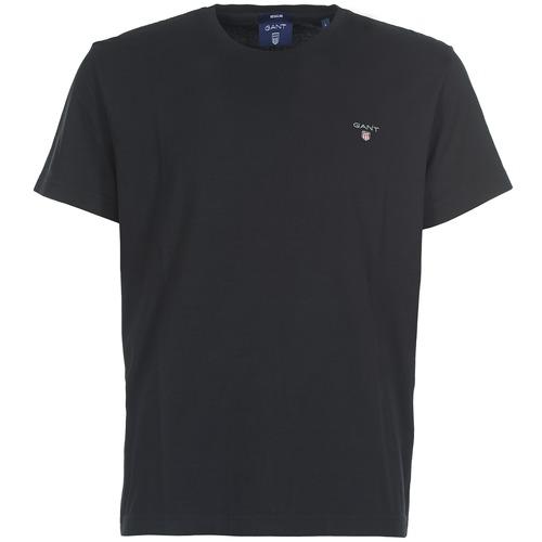 Clothing Men short-sleeved t-shirts Gant THE ORIGINAL SOLID T-SHIRT Black