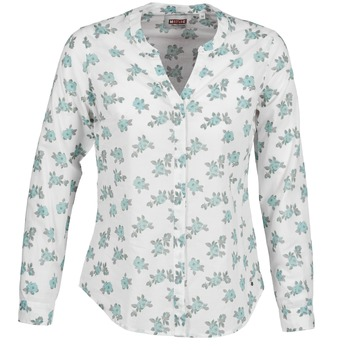 Clothing Women Shirts Mustang FLOWER BLOUSE White / Blue