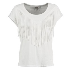 Clothing Women short-sleeved t-shirts Mustang FRINGE White
