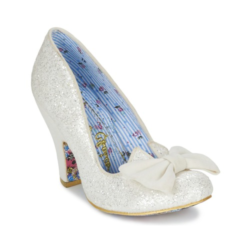Shoes Women Heels Irregular Choice NICK OF TIME White / Glitter