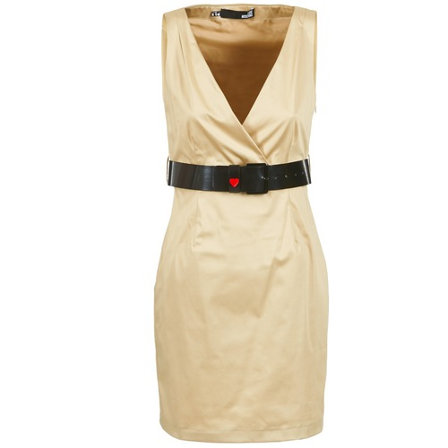 Clothing Women Short Dresses Love Moschino ACTEE Beige