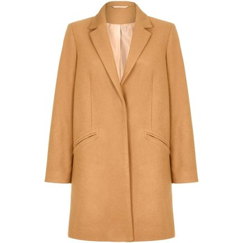 Clothing Women coats Anastasia Women's Camel Wool Slim Crombie Winter Coat BEIGE