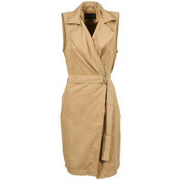 Clothing Women Trench coats Vila VIEMMELY Beige
