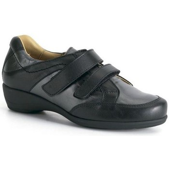 Shoes Women Derby Shoes Calzamedi comfortable double velcro BLACK