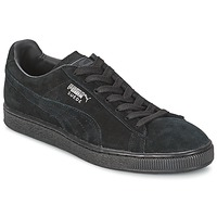 Shoes Low top trainers Puma SUEDE CLASSIC Black / Grey