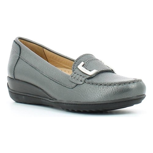Shoes Women Loafers Geox D54M3A 000AK Mocassins Women Graphite Graphite
