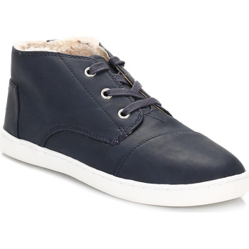 Shoes Children Hi top trainers Toms Youth Blue Paseo Mid Faux Shearling Trainers Blue