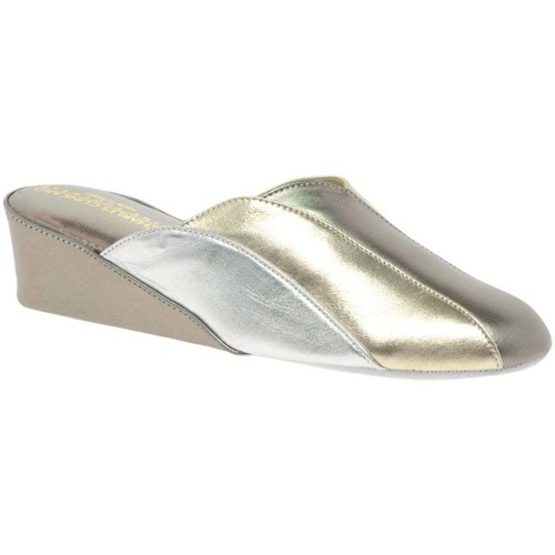 Shoes Women Slippers Relax Slippers Glamour Womens Unlined Mule Slippers Silver