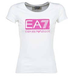 Clothing Women short-sleeved t-shirts Emporio Armani EA7 BEAKON White