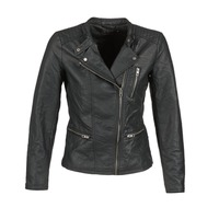 Clothing Women Leather jackets / Imitation leather Only FREYA Black