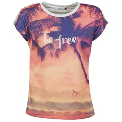 Clothing Women short-sleeved t-shirts Only BE FREE SUMMER Multicoloured