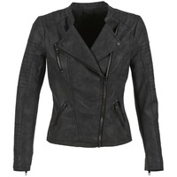 Clothing Women Leather jackets / Imitation leather Only AVA Black