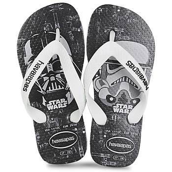 Shoes Boy Flip flops Havaianas STAR WARS Black / White
