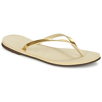 Shoes Women Flip flops Havaianas YOU METALLIC Gold