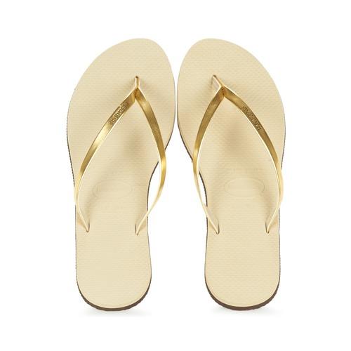 Shoes Women Flip flops Havaianas YOU METALLIC Gold