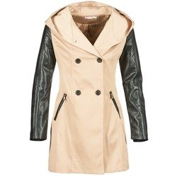 Clothing Women Trench coats Moony Mood ECILA Beige