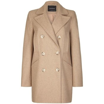 Clothing Women coats Anastasia Women's Beige Wool Winter Pea Coat beige