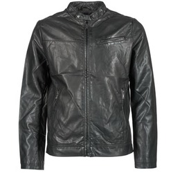 Clothing Men Leather jackets / Imitation leather Celio DUBIKER Black