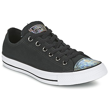 Shoes Women Low top trainers Converse ALL STAR OIL SLICK TOE CAP OX  BLACK / White /  BLACK