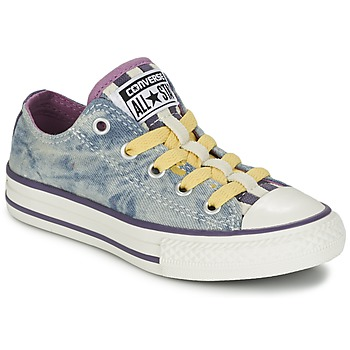 Shoes Girl Low top trainers Converse ALL STAR LOOPHOLES OX PURPLE / Cactus / Blossom