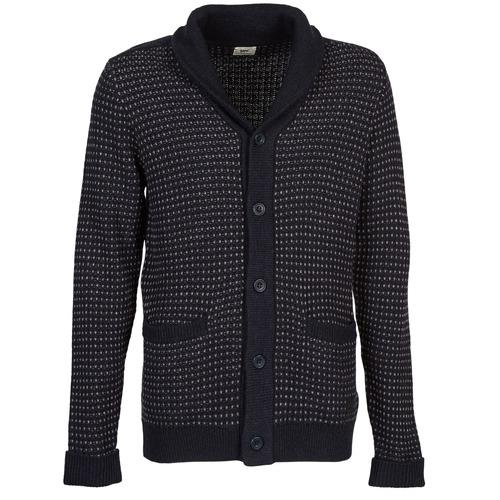 Clothing Men Jackets / Cardigans Lee SHAWL CARDIGAN Blue