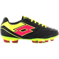 Shoes Children Fitness / Training Lotto R2792 Scarpa calcio Kid Black Black