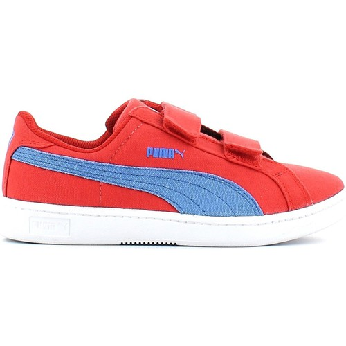 Shoes Boy Low top trainers Puma 357702 Sport shoes Kid Red Red