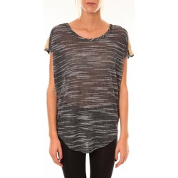 Clothing Women short-sleeved t-shirts Dress Code Top à sequins R5523 anthracite Grey