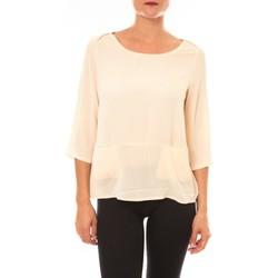 Clothing Women Long sleeved tee-shirts La Vitrine De La Mode By La Vitrine Top K598 écru Beige