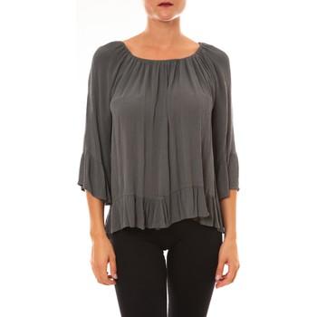 Clothing Women Tops / Blouses La Vitrine De La Mode By La Vitrine Blouse Giulia anthracite Grey