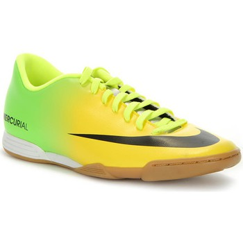 Shoes Men Football shoes Nike Mercurial Vortex IC Yellow-Golden
