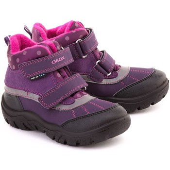 Shoes Girl Mid boots Geox Junior Frosty Violet