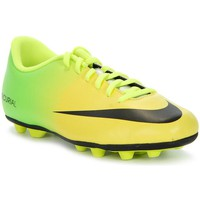 Shoes Children Football shoes Nike JR Mercurial Vortex Fgr Yellow-Green