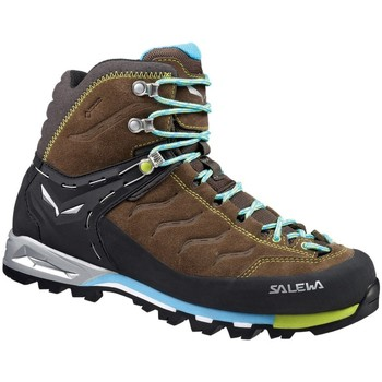 Shoes Women Walking shoes Salewa WS Mtn Trainer Mid Gtx Black-Brown-Light blue