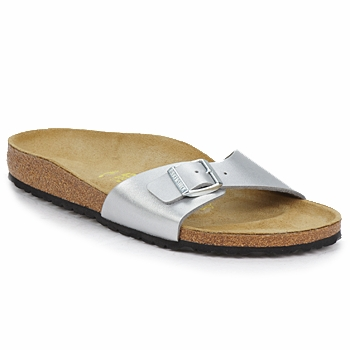 Shoes Women Mules Birkenstock MADRID Silver
