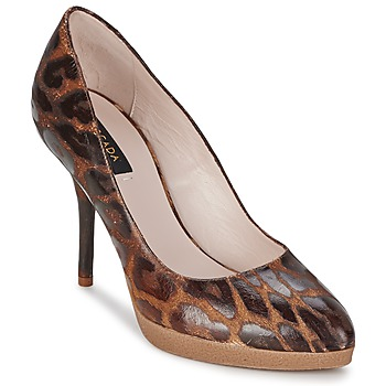 Shoes Women Heels Escada AS701 Brown / Leopard