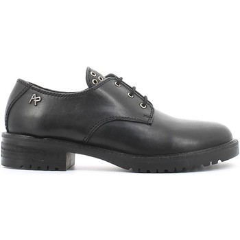 Shoes Women Derby Shoes Apepazza HRL29 Lace-up heels Women Black Black