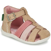 Shoes Girl Sandals Kickers BIGFLY BEIGE / Pink
