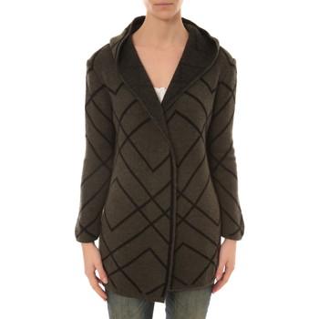 Clothing Women Jackets / Cardigans De Fil En Aiguille GILET CAPUCHE ZINKA  2135 KAKI Beige