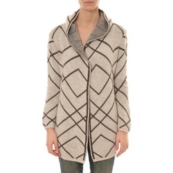 Clothing Women Jackets / Cardigans De Fil En Aiguille GILET CAPUCHE ZINKA  2135 BEIGE Green