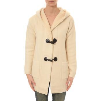 Clothing Women Jackets / Cardigans De Fil En Aiguille Veste Laine Lili Lala 1811 ECRU Beige