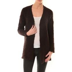 Clothing Women Jackets / Cardigans De Fil En Aiguille GILET ZINKA 1186 MARRON Brown