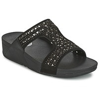 Shoes Women Mules FitFlop CARMEL SLIDE Black